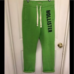 Hollister lime green sweatpants size small